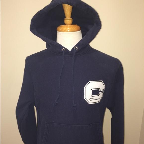 c3da34fbc1a1 Champion Other - Vintage Champion Big C Logo Navy Hoodie Size S